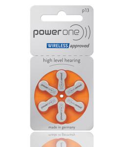POWER ONE μπαταρίες ακουστικών βαρηκοΐας P13, mercury free, 1.45V, 6τμχ