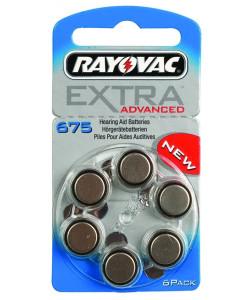 RAYOVAC μπαταρίες ακουστικών βαρηκοΐας 675MF, mercury free, 1,45V, 6τμχ