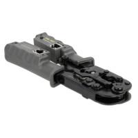 DELOCK εργαλείο πτύχωσης με απογυμνωτή & tester 90510, 8P/6P/4P