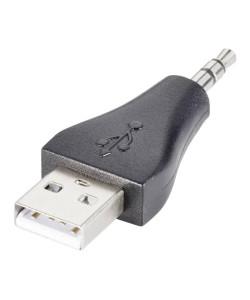 GOOBAY αντάπτορας USB σε 3.5mm jack 93981, 3pin, μαύρο