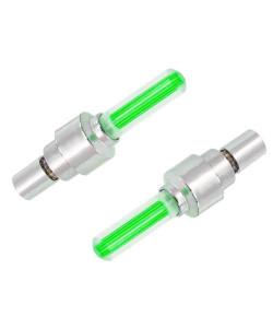 Καπάκι βαλβίδας ποδηλάτου AG304B, LED, 6.5cm, 2τμχ, πράσινο