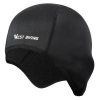 WEST BIKING ποδηλατικός σκούφος BIKE-0037, μαύρος