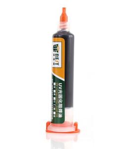BEST PCB Repairing UV Solder mask ink BST-UVH900, 10cc, μαύρο