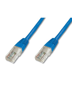 POWERTECH καλώδιο UTP Cat 6e CAB-N140, CCA 24AWG 0.5mm, 0.30m, μπλε