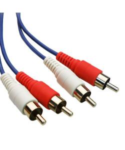 POWERTECH Καλώδιο 2x RCA Male σε 2x RCA Male CAB-R001, 1.5m