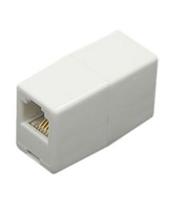 POWERTECH τηλεφώνικο εξάρτημα (μούφα), 6p4c, RJ11, μπεζ