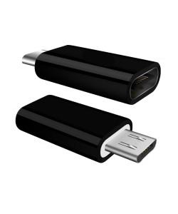 POWERTECH Adapter OTG Micro USB 2.0 male σε USB Type-C female , μαύρο