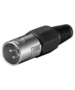 POWERTECH βύσμα μικρόφωνου XLR CAB-V034, 3 Pin, μαύρο