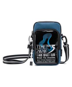 SUPER FIVE τσάντα ώμου K00110-BL, μπλε