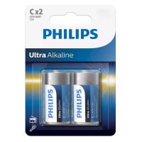 PHILIPS Ultra αλκαλικές μπαταρίες LR14E2B/10, LR14 1.5V, 2τμχ
