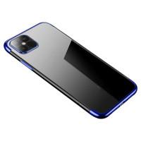 POWERTECH θήκη Clear color MOB-1595, iPhone 12/12 Pro, μπλε