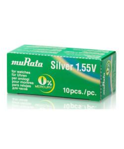 MURATA μπαταρία Silver Oxide για ρολόγια SR920SW, 1.55V, No371, 10τμχ