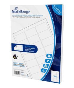 MEDIARANGE Ετικέτες πολλαπλών χρήσεων MRINK148, 63.5x38.1mm, 1050τμχ