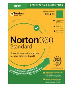 NORTON Antivirus 360 Standard ESD, 1 συσκευή, 10GB cloud, 1 έτος