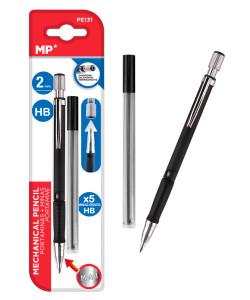 MP Mηχανικό μολύβι PE131, HB, 5x ανταλλακτικά, 2mm, 2τμχ