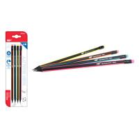MP ξύλινο μολύβι με γόμα PE332, τρίγωνο, HB, 4τμχ