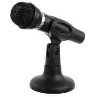 POWERTECH μικρόφωνο PT-859, με βάση, δυναμικό, 3.5mm, μαύρο