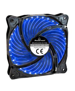 POWERTECH LED ανεμιστήρας PT-907, 120mm, 3pin/molex & 4 βίδες, μπλε