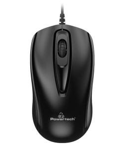 POWERTECH ενσύρματο ποντίκι PT-932, οπτικό, 1000DPI, μαύρο