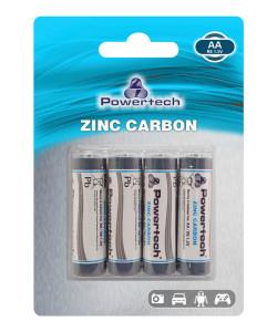 POWERTECH Zinc Carbon μπαταρίες PT-949, AA R6 1.5V, 4τμχ