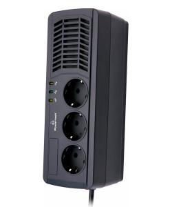 POWERTECH σταθεροποιητής ρεύματος PT-AVR1000I, 1000VA/500W, 3x schuko