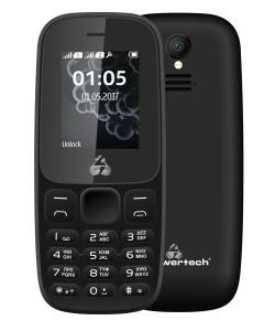 POWERTECH Κινητό Τηλέφωνο Milly Small II PTM-27, με φακό, μαύρο