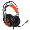 SADES Gaming Headset A6, multiplatform, USB, LED, μαύρα