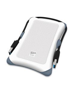 SILICON POWER εξωτερικός HDD 1TB Armor A30, USB 3.1, λευκό