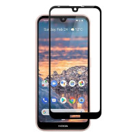 POWERTECH Tempered Glass 5D Full Glue, Nokia 3.2, μαύρο